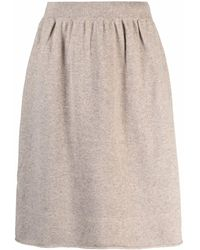 Extreme Cashmere High-waisted Knitted Skirt - Multicolour