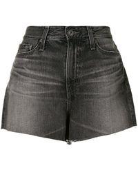 AG Jeans Short à taille haute - Noir