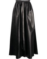 Givenchy Leather Maxi Skirt - Black