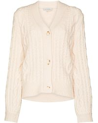 Lee Mathews Stanford Cable-knit Cardigan - Multicolor