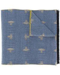 Vivienne Westwood Orb スカーフ - ブルー