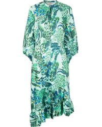Baum und Pferdgarten - Feather Sky Print Dress - Lyst