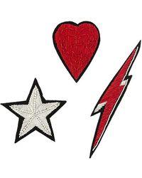 Racil Lightning-bolt Badge - Red
