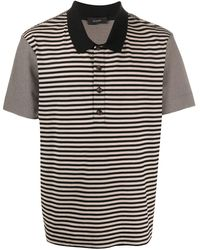 JOSEPH ストライプ ポロシャツ - ブラック