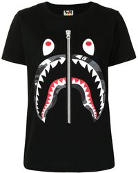 A Bathing Ape Shark Tシャツ - ブラック