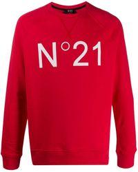 N°21 ロゴ スウェットシャツ - レッド