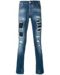 Philipp Plein - Camou Details Jeans - Lyst