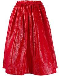 Marni Falda con vuelo y pliegues - Rojo