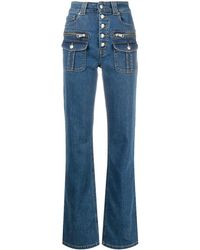 Zadig & Voltaire Eyes High-rise Straight Jeans - Blue