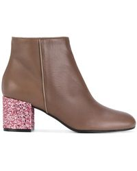 Pollini - Glitter Ankle Boots - Lyst