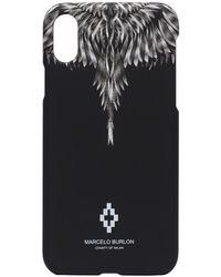 Marcelo Burlon Iphone Xs Hoesje Met Vleugelprint - Zwart