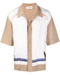 Lanvin Рубашка Со Вставками - Белый