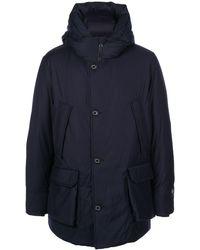 Woolrich Lp パーカーコート - ブルー