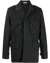 Boglioli カーゴポケット シャツジャケット - グレー