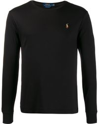 Polo Ralph Lauren Logo Embroidered Jumper - Black