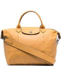 Longchamp Le Pliage Cuir ハンドバッグ M - ブラウン