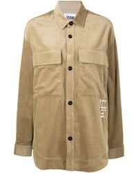 Izzue Slouchy Cotton Corduroy Shirt - Brown