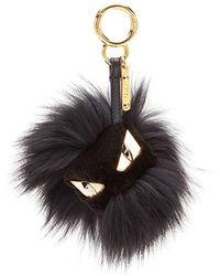 Fendi Bag Bugs Charm - Black