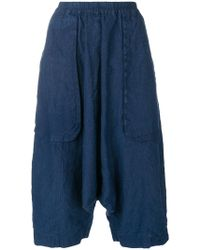 Rundholz Black Label - Cropped Drop-crotch Trousers - Lyst