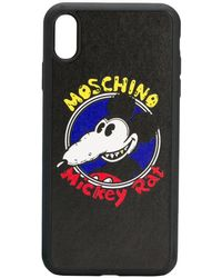 Moschino Mickey Rat Iphone Xs Max ケース - ブラック