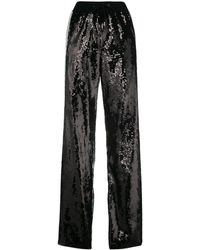 Alberta Ferretti Sequin side striped track pants - Noir