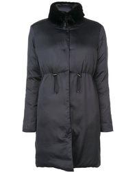 Giambattista Valli Detachable Collar Coat - Black