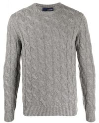 Lardini Cable-knit Jumper - Grey