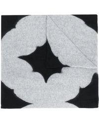 Suzusan Graphic Print Cashmere Scarf - Black