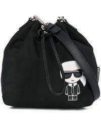 Karl Lagerfeld Сумка-ведро K/ikonik - Черный