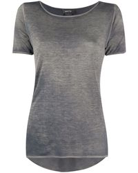 Avant Toi スクープネック Tシャツ - グレー