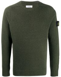 Stone Island Logo-patch Sweater - Green