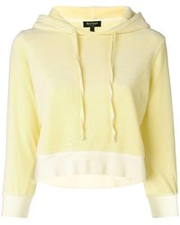 Juicy Couture - Velour Shrunken Hooded Pullover - Lyst