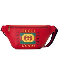 da1a6c39a34 Gucci Coco Capitán Logo Belt Bag in White for Men - Lyst