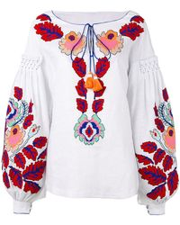 Yuliya Magdych - 'eden Tree' Embroidered Blouse - Lyst
