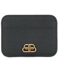 Balenciaga - ブラック Bb カード ホルダー - Lyst