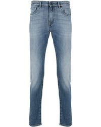 PT01 Slim-fit Cut Jeans - Blue