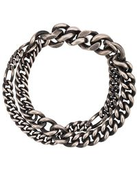 Werkstatt:münchen Double Chain Bracelet - マルチカラー