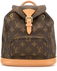 Louis Vuitton 1999 Pre-owned Mini Montsouris Backpack - Brown
