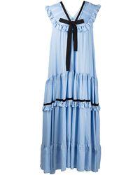 Lug Von Siga Fiona Tiered Maxi Dress - Blue