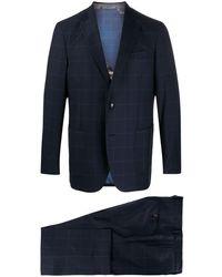 Etro Karierter Anzug - Blau