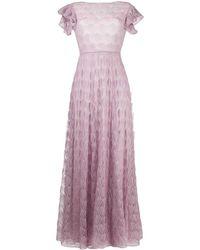 Missoni Расклешенное Платье Макси С Вышивкой - Пурпурный