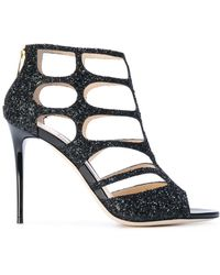Jimmy Choo Ren 100 Sandals - Black