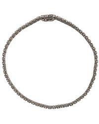 Eva Fehren - 18k Blackened White Gold & Diamond Bracelet - Lyst