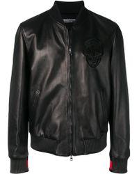 Alexander McQueen スカル ボンバージャケット - ブラック