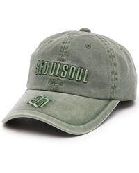 Juun.J Casquette Seoul Soul à logo brodé - Vert