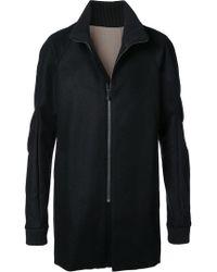 DEVOA - Zip Front Coat - Lyst