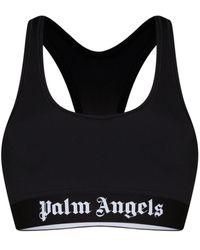Palm Angels Logo Racerback Sports Bra - Black