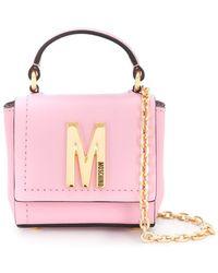 Moschino Мини-сумка С Верхней Ручкой - Розовый