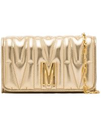 Moschino Quilted Leather Clutch Bag - Многоцветный