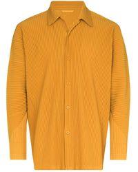 Homme Plissé Issey Miyake - Plissé-effect Long-sleeve Shirt - Lyst